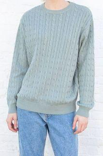 Brandy Melville teal knit sweater