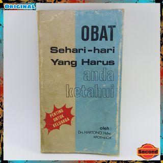 Buku Jadul Tahun 1980 Original By Drs.Hartono Hdw. Apoteker   Obat Sehari Hari