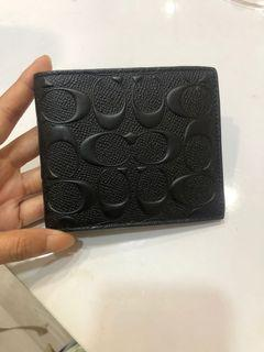 Coach original embossed wallet dompet