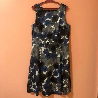 Esprit Dusty Blue Gray Dress