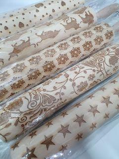 Fondant rolling pin with designs 43cm
