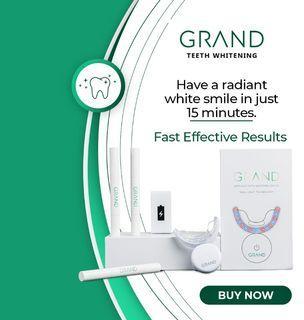 Grand Teeth Whitening Kit Dual Led Light Whitening Device No Sensitivity