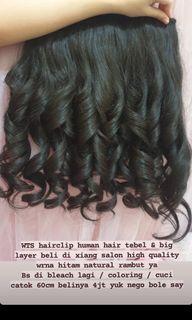Hairclip rambut asli