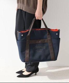 Hermès Pansage 帆布馬夫包 深藍(全配)