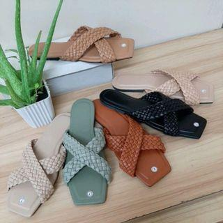 💐Ladies braided *LALA* slipon sandals