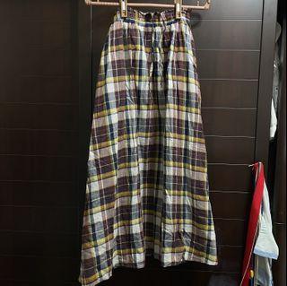 [LOWRYS FARM]日系格紋長裙F碼(只穿過一次)