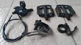 LTWOO A5 FD & Shifter, trinx stock pedals and seat clamp
