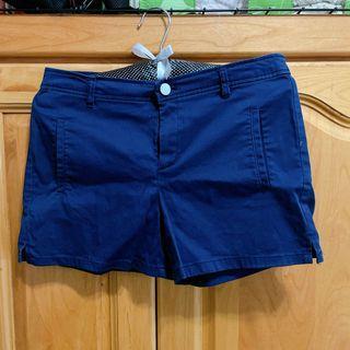 MANGO 深藍短褲