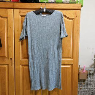 NET灰色長版T 連身裙