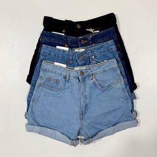 NEW Cotton On Clean Cut Denim Folded Cuff Mom Shorts | Authentic Overruns