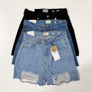 NEW Cotton On Highwaisted Distressed Denim Mom Shorts | Authentic Overruns