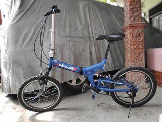 TERMURAH Sepeda Lipat Ace Airwalk Expresso Suspension Biru 7 Speed 20 Inch