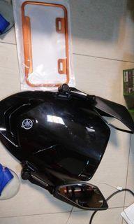 smax visor orange plate holder sticker Arjay