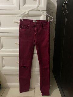 Stradivarius maroon jeans / jegging