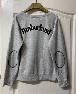 Timberland灰色長袖字母大學T
