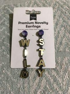 Typo Premium Novelty Earrings