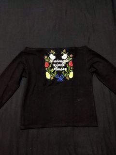 3/4's off-shoulder blouse