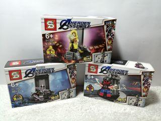 3 in 1 Package AVENGERS Lego Figure Toys: The Ancient One, X-Force Deadpool & Red Hulk, Lot Sale