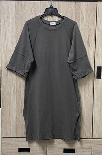 五分袖Over soze灰褐色洋裝