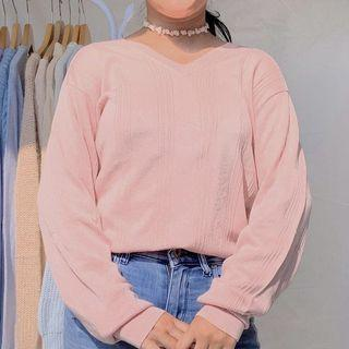 baby pink sweater by conquest