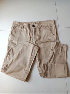 Beige Tan Celana Bahan Pants Coklat Muda Krem
