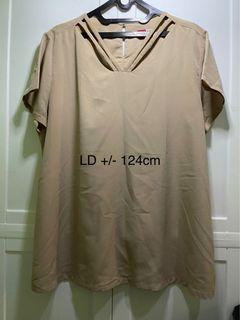 BLOUSE BIG SIZE LD 124cm