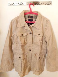 Coat Outerwear Jacket Beige Tan Jaket