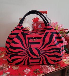 Kate Spade Kerra Striped Red Navy Blue Handbag