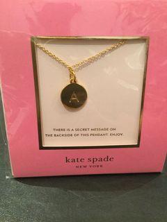 Kate Spade-Letter A pendant necklace