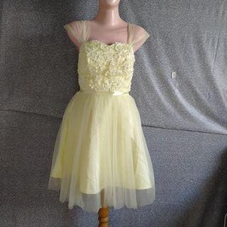 Mini Gown In Yellow | Gaun Pesta|