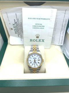 Rolex mens Datejust with Diamonds 36mm Box and Paper