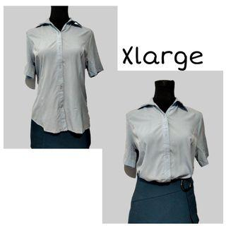 SHOP FOR A CAUSE | Blue Shortsleeves Blouse