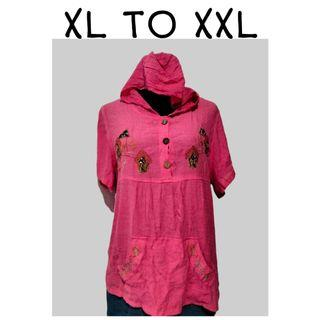 SHOP FOR A CAUSE | Pink Blouse with Hood