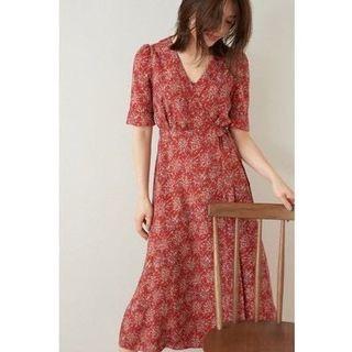 日系Snidel交叉綁帶洋裝
