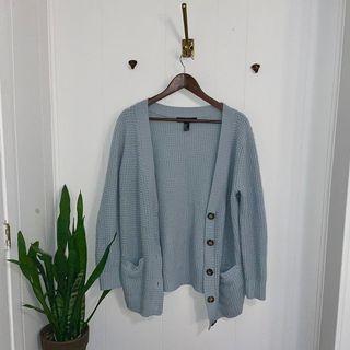 Textured knit cardigan sweater