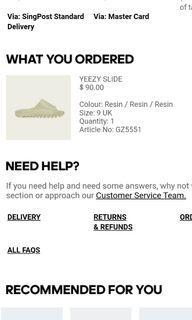 UK 9 Yeezy slide resin