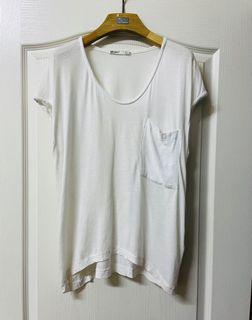 ZARA白色短袖上衣