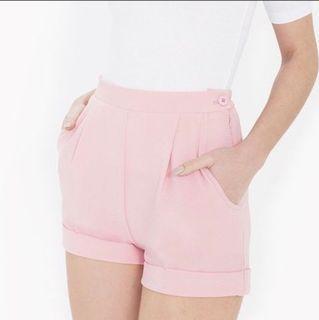 American Apparel Crepe Cuff Shorts