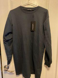 BNWT Pretty Little Thing Sweater Dress Charcoal Size 6