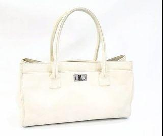 Chanel Executive Reissue Beige Cerf Tote