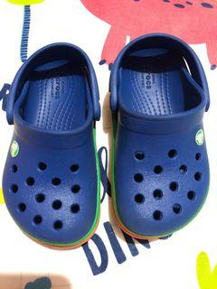 Crocs Multicolored Band Green Yellow Orange for Toddlers C7