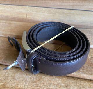 Dark Brown Leather Belt Sabuk Uniqlo