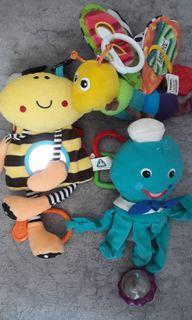 ElC Lamaze Baby toys gantungan stroller, rattle ,mirror  - 3 pcs