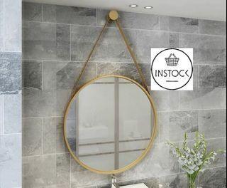 🚀INSTOCK Mira Round Mirror living room porch bedroom dressing vanity mirror wall hanging bathroom mirror wall mirror toilet wash basin