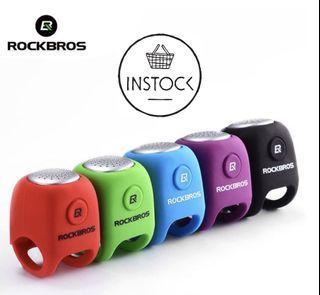 🚀INSTOCK ROCKBROS Cycling Electric Horn Rainproof MTB Bicycle Ultra-light Handlebar Bell
