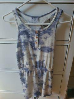 LN) Girls size M Tie Dye one piece Outfit