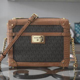 Michael Kors Theodora Small Zip Trunk Xbody Luggage