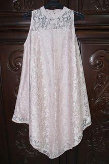 Preloved Soft Pink Dress Elegant