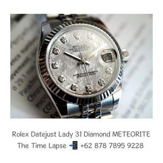 Rolex Datejust Lady 31m, Diamond Index METEORITE Dial - 2018