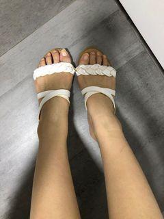 Seira elves braided slip on sandals